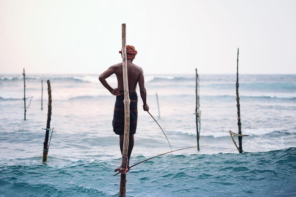 Galle les pêcheurs traditionnels