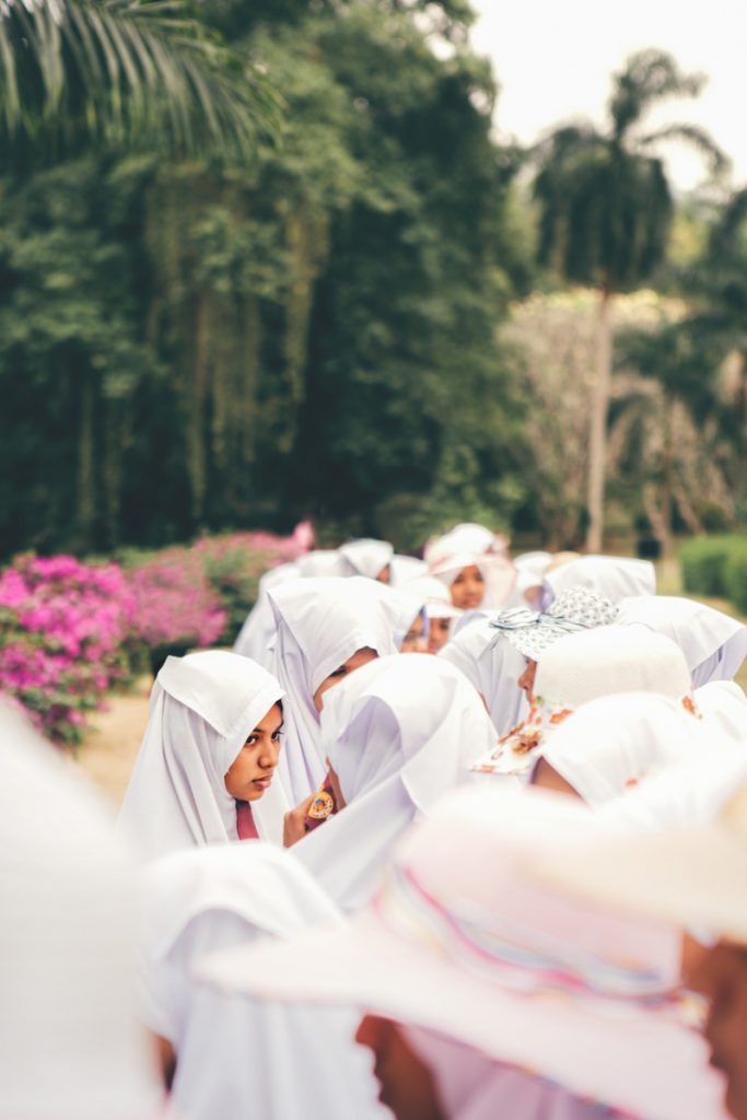 Sri Lanka jeunes filles de Kandy