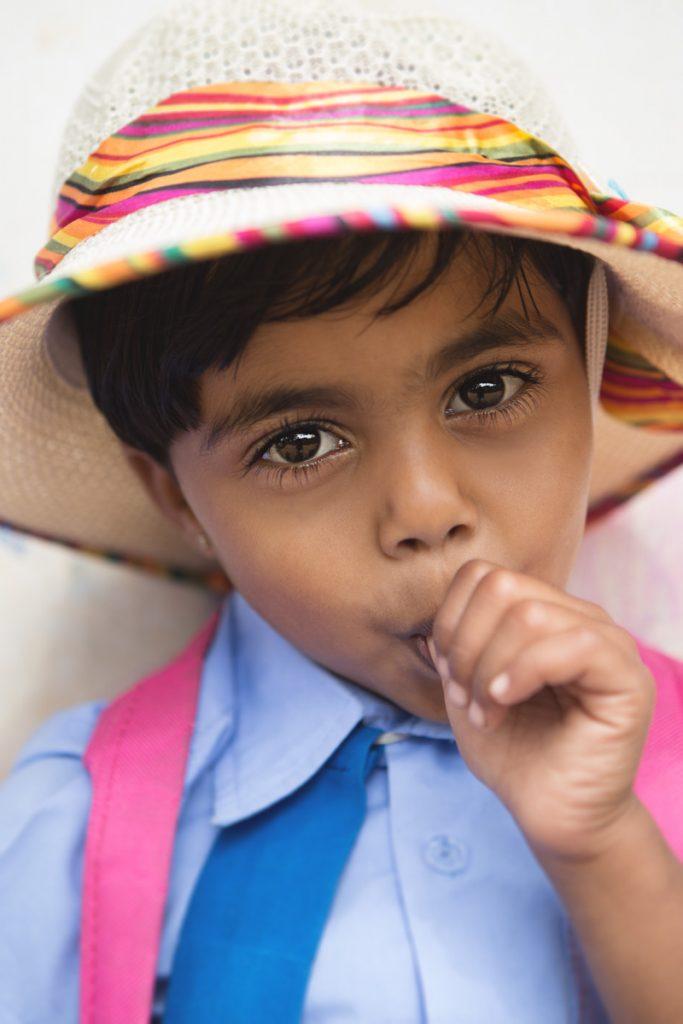 Ella petite fille du Sri Lanka