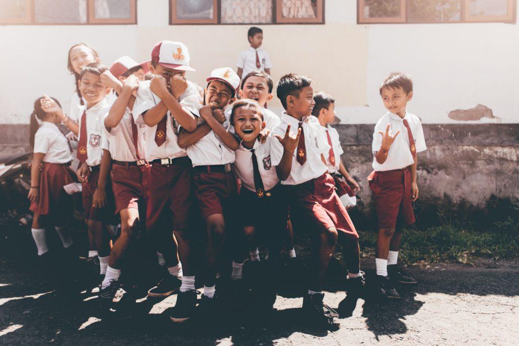 écoliers de bali