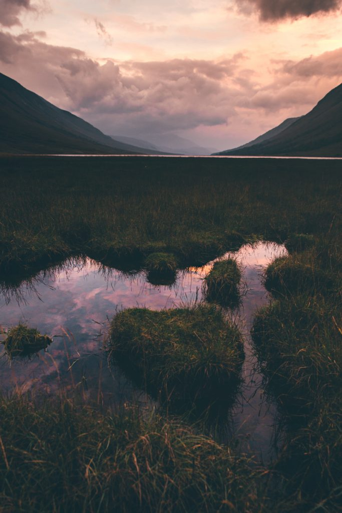 L'Ecosse en bivouac sunrise glen etive