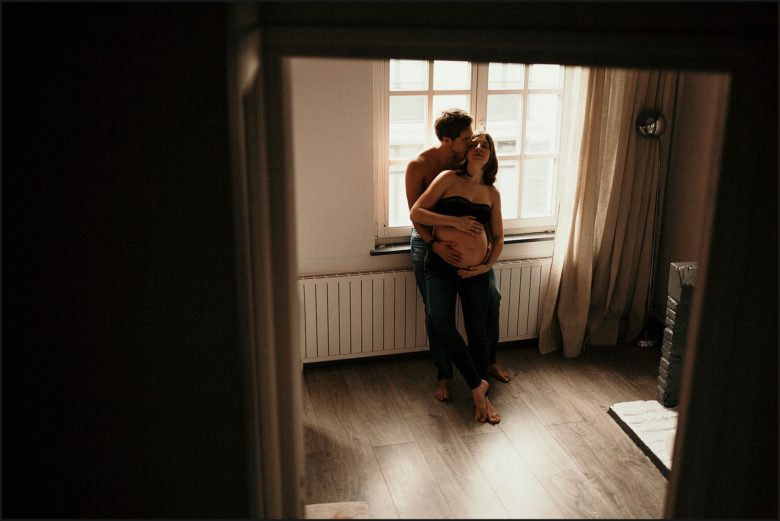 Tarifs photographe Lille photo de grossesse en couple