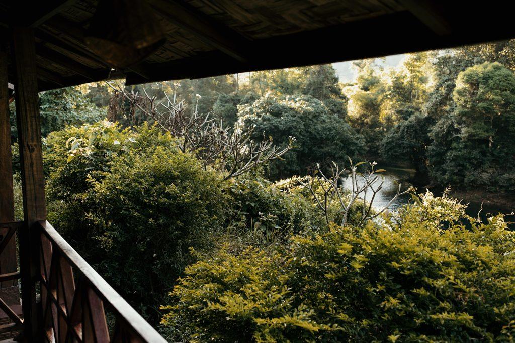 la boucle de thakhek vue depuis le bungalow spring river resort