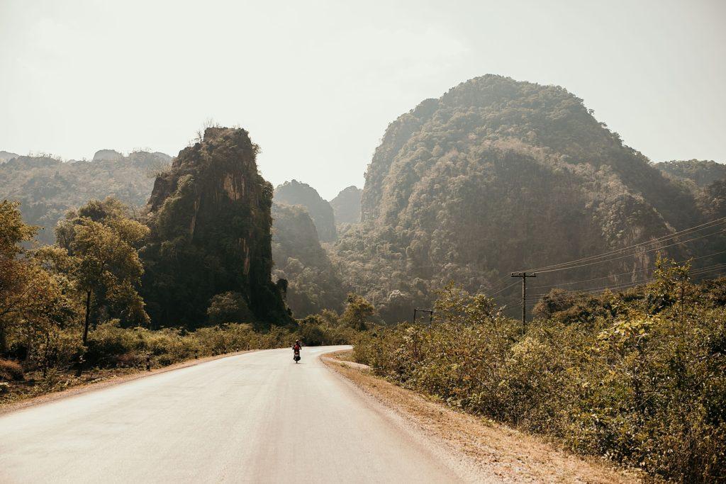 La Boucle de Thakhek paysages a moto