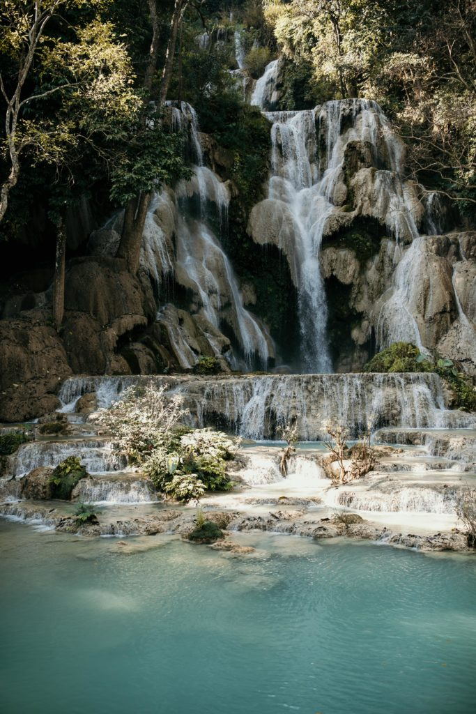 Voyage au Laos kuang si waterfalls