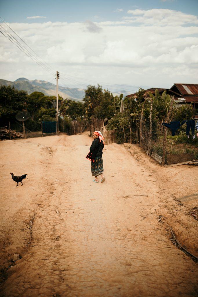 Trek au Laos village autour phongsali