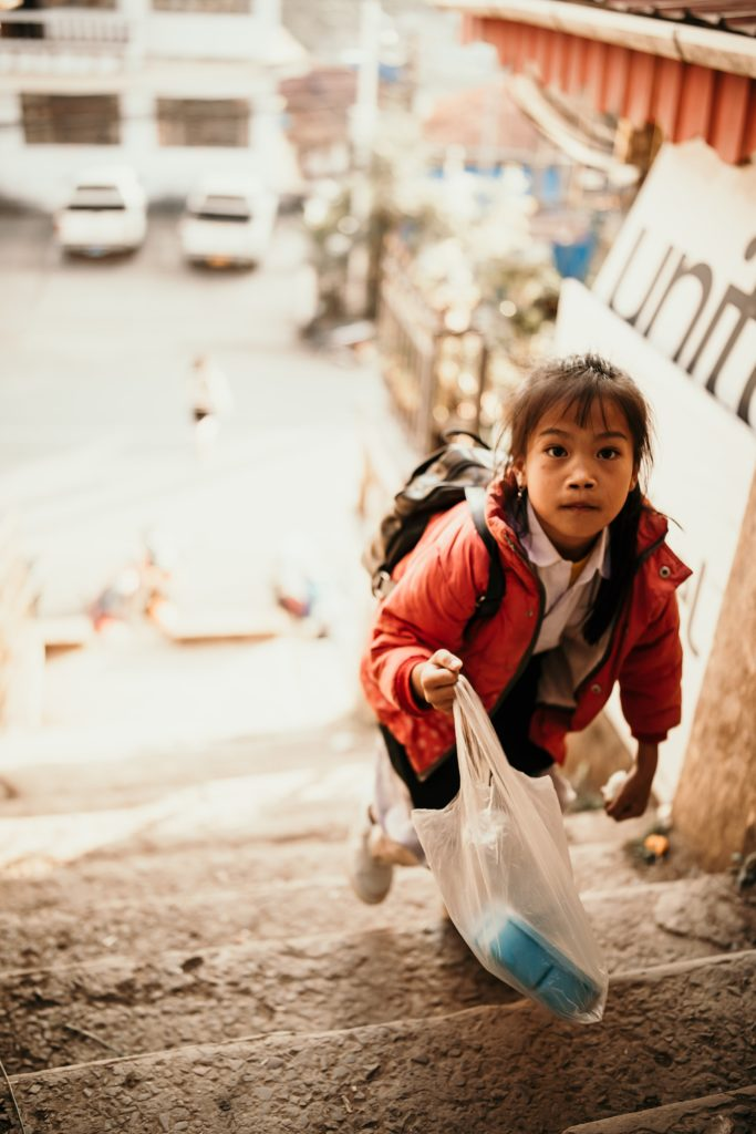 Trek au Laos petite fille phongsali