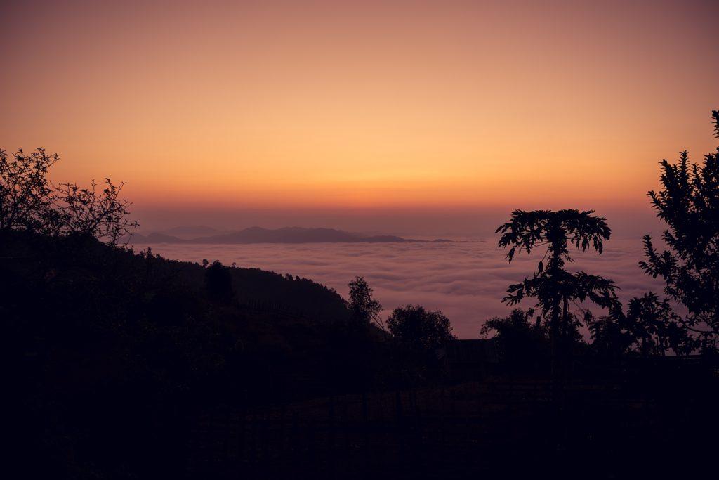 Trek au Laos chez les Akha lever soleil