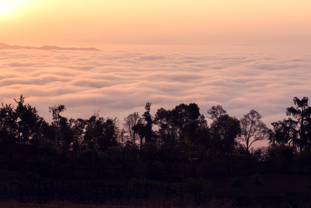 Trek au Laos chez les Akha sea of clouds