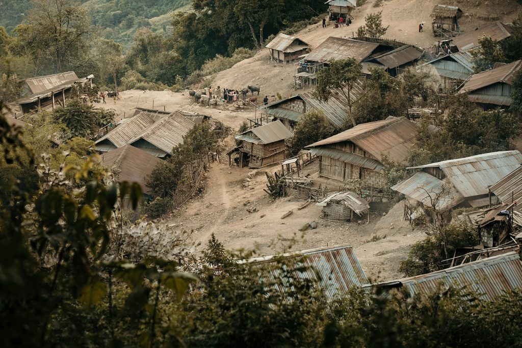 Trek au Laos chez les Akha Napoxang village vu de haut