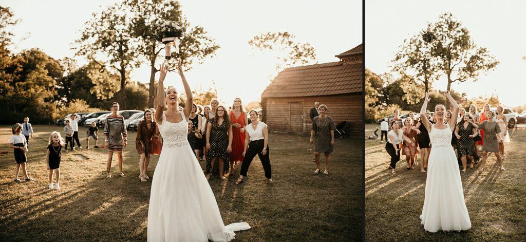 Mariage à Lille lancer bouquet