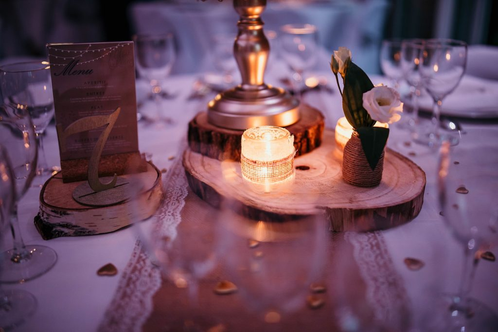mariage a lille décoration de table avec bougie