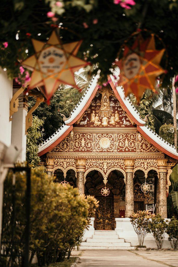 voyage au laos temple a luang prabang