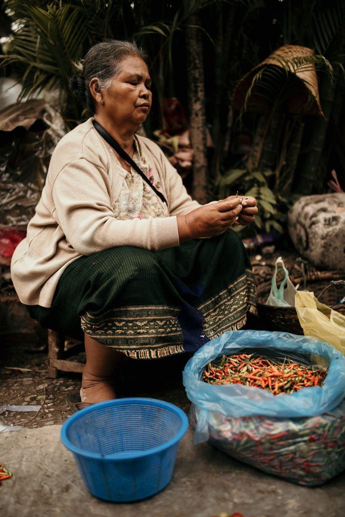 voyage au laos morning market epices