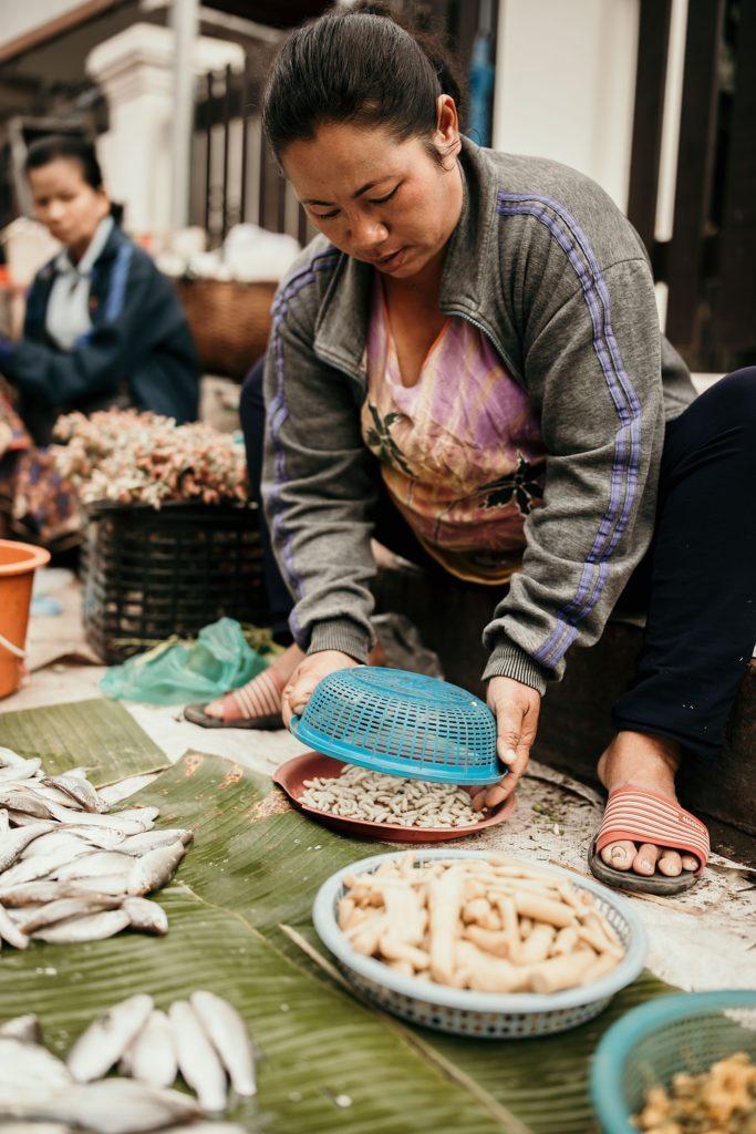 voyage au laos market luang