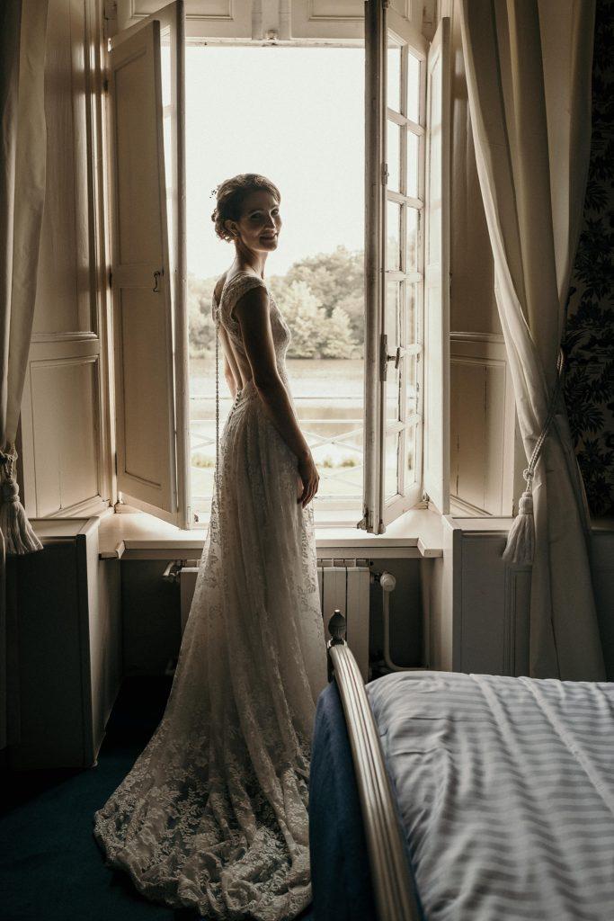 photographe mariage bretagne mariée dans chateau