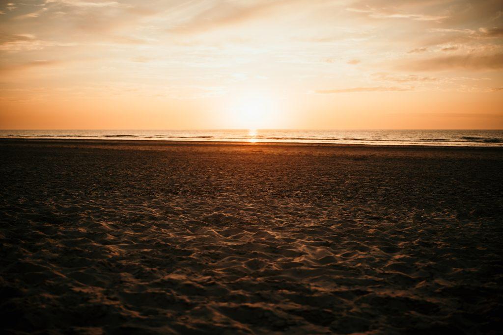 Séance photo Côte d'Opale plage de bray dunes au coucher de soleil