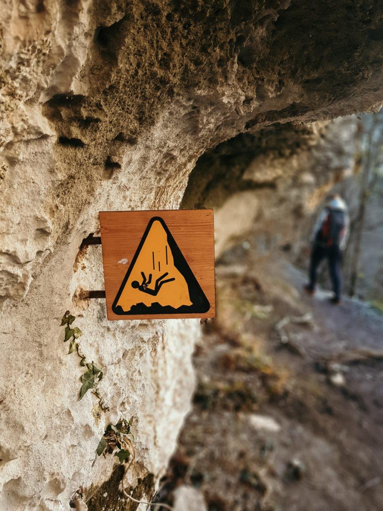Les randonnées du Verdon passage délicat maugé