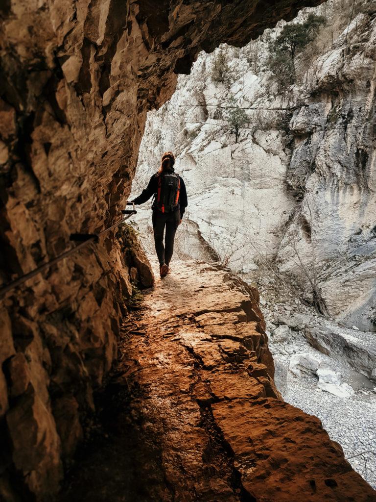 Les randonnées du Verdon passage du maugé imbut