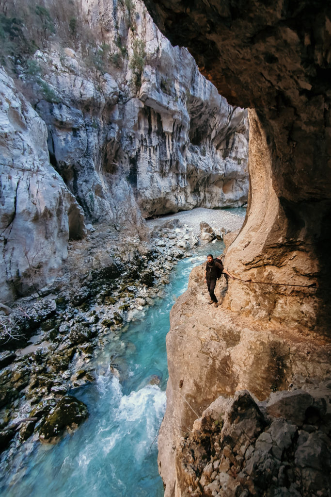 Les randonnées du Verdon passages étroits de l'imbut