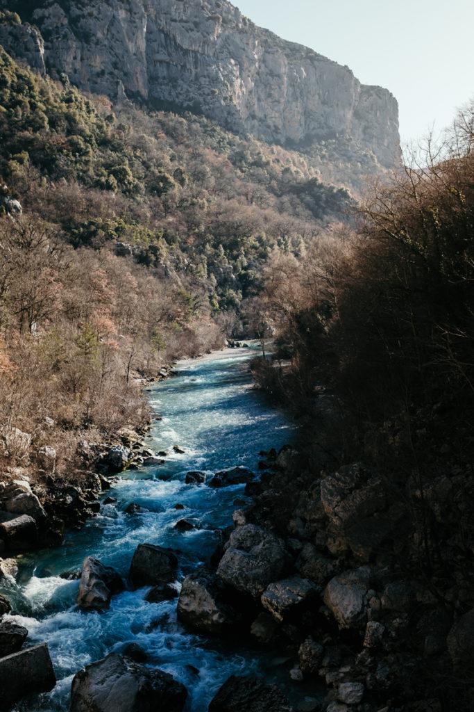 Les randonnées du Verdon vu depuis la passerelle